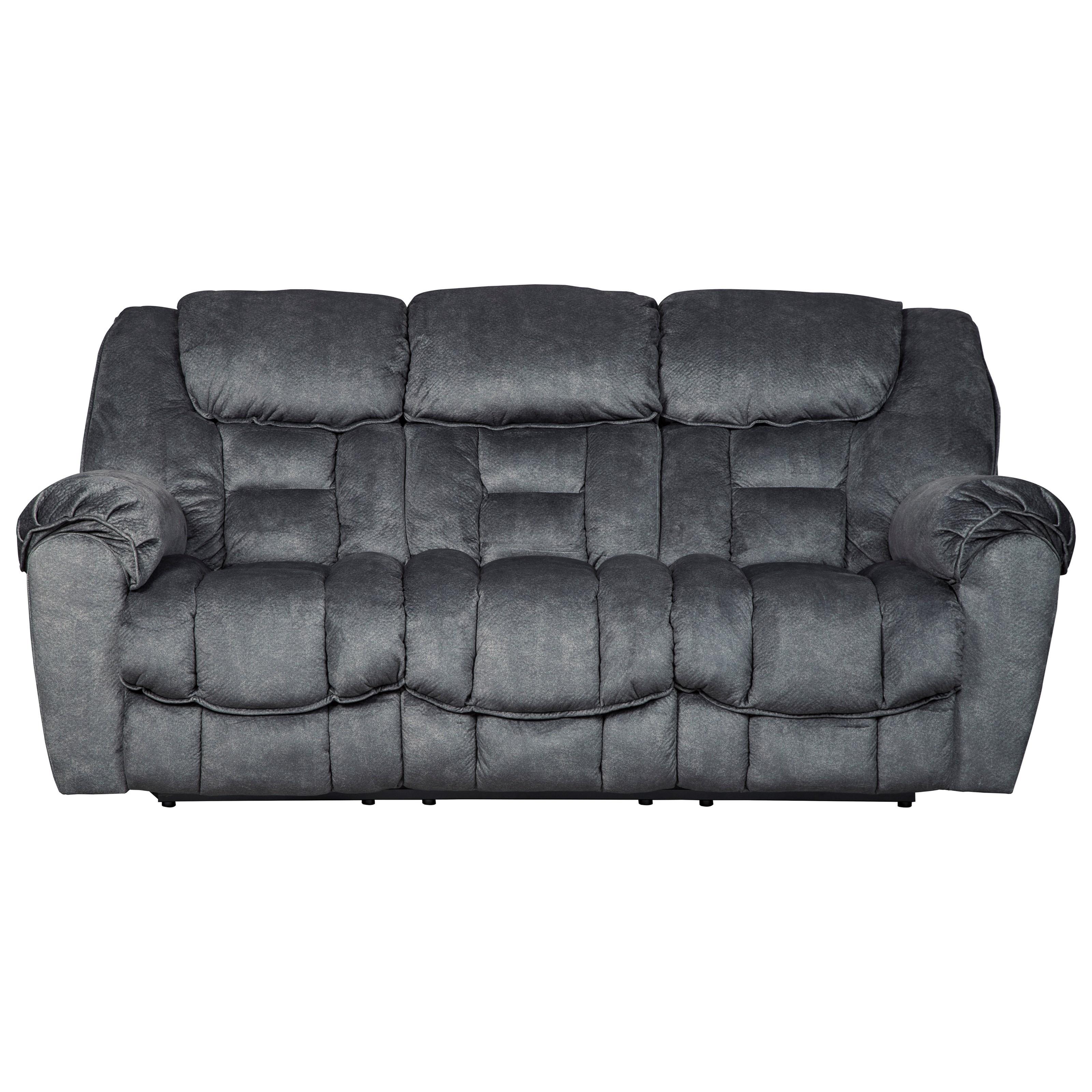 Casual Contemporary Reclining Sofa