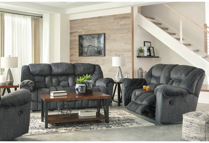 Capehorn Casual Contemporary Reclining Sofa by Signature Design by Ashley  at Coconis Furniture & Mattress 1st