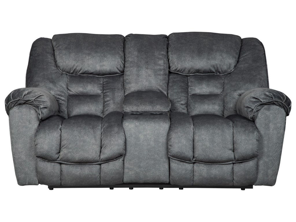 Signature Design by Ashley CapehornDouble Reclining Loveseat w/ Console