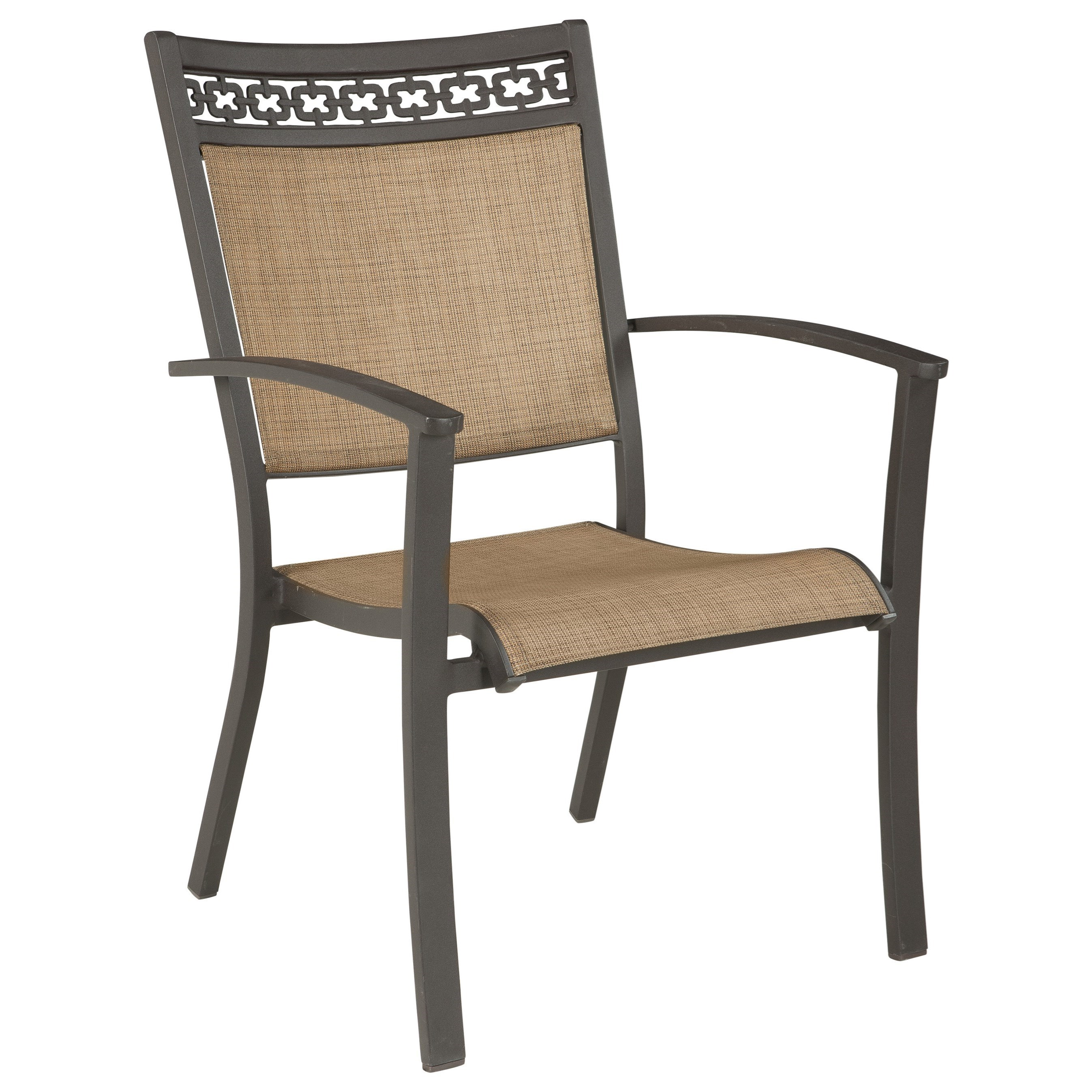 Signature Design By Ashley Carmadelia Set Of 4 Outdoor Sling Chairs   John  V Schultz Furniture   Outdoor Dining Arm Chairs
