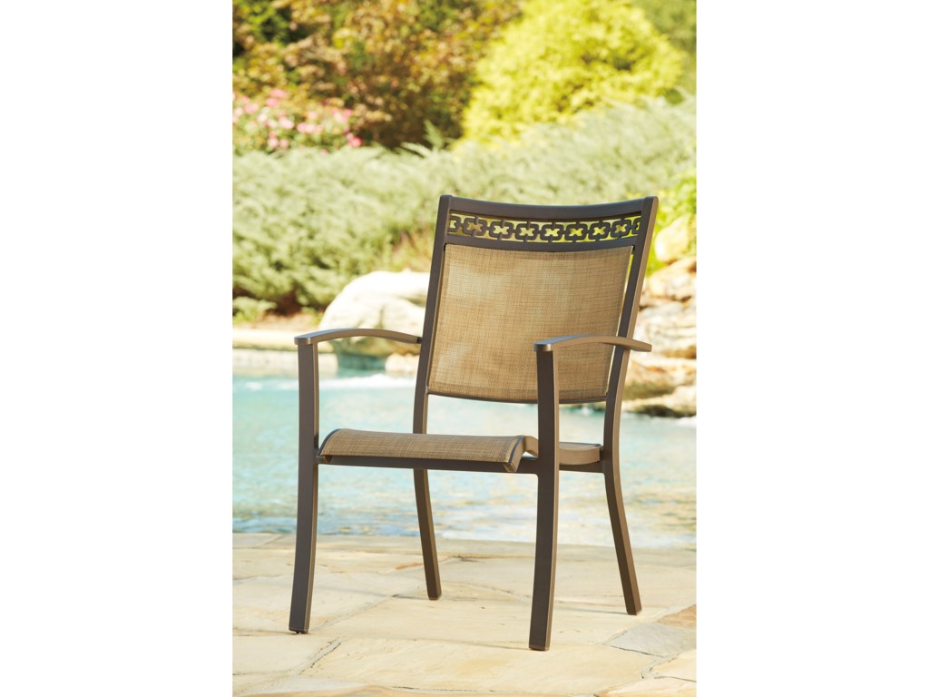 Signature Design by Ashley CarmadeliaSet of 4 Outdoor Sling Chairs