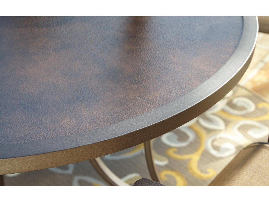 Signature Design by Ashley CarmadeliaOutdoor Round Dining Table w/ Umbrella Opt