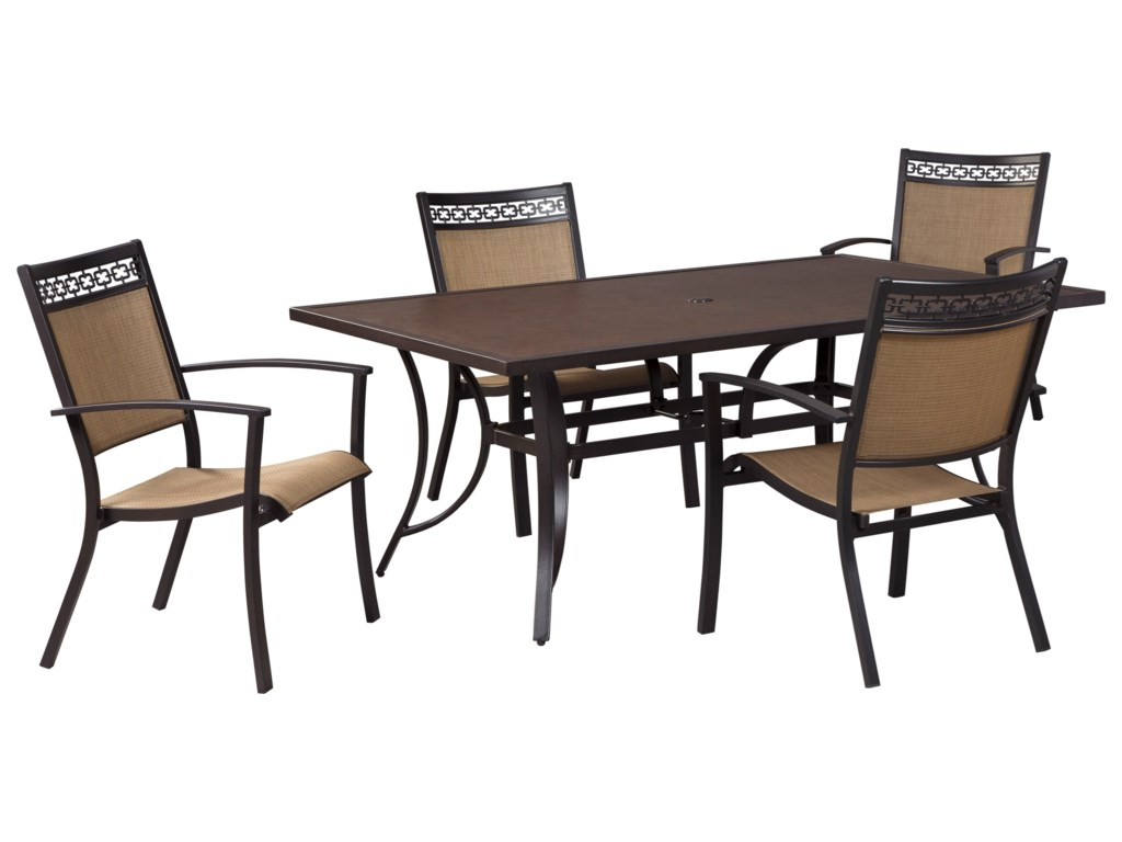 Signature Design by Ashley CarmadeliaOutdoor Rectangular Dining Table Set