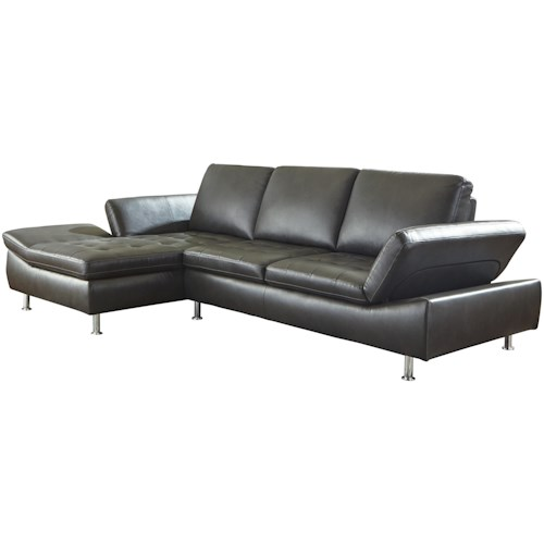 Signature Design by Ashley Carrnew Contemporary 2 Piece Sectional with Chaise