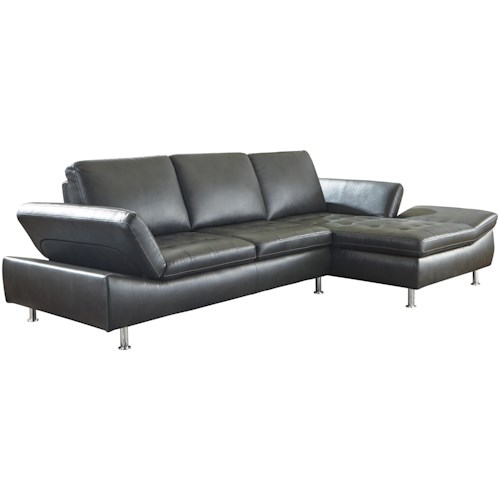 Signature Design By Ashley Carrnew Contemporary 2 Piece Sectional