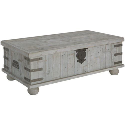 Signature Design by Ashley Carynhurst Industrial Lift Top Cocktail Table
