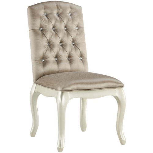 Signature Design by Ashley Cassimore Upholstered Chair/Vanity Chair with Gray Velvet Upholstery