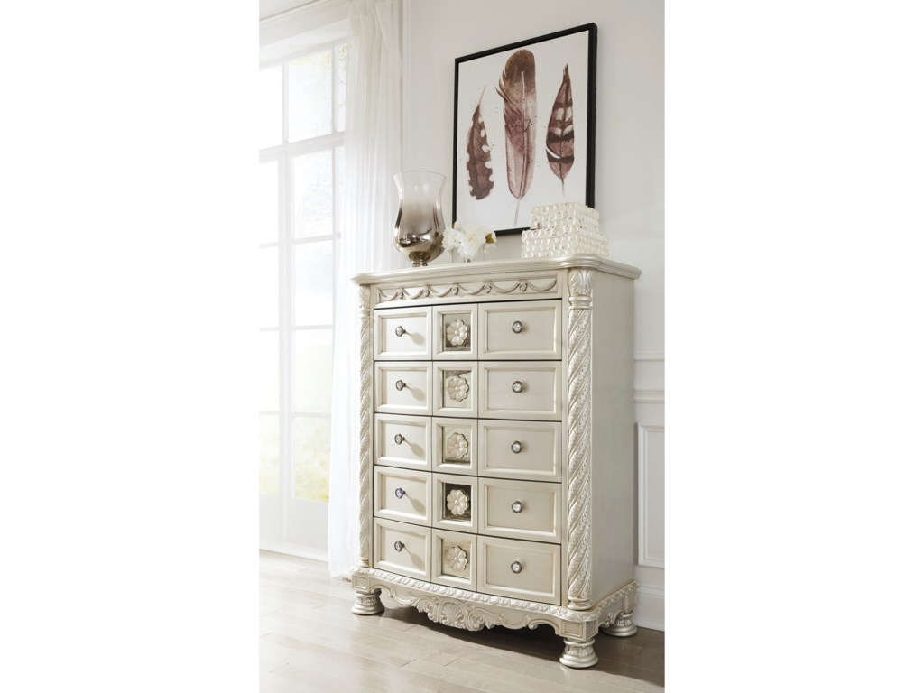Signature Design by Ashley Cassimore Five Drawer Chest