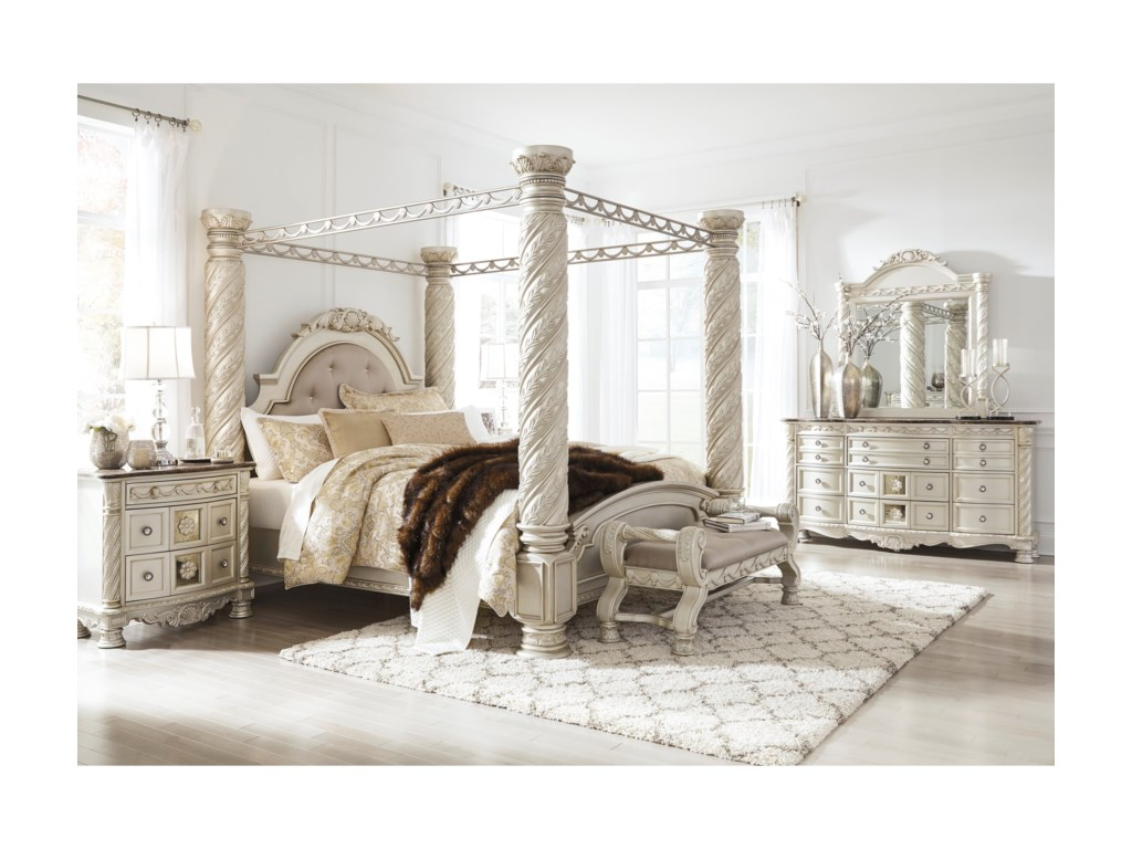 Signature Design by Ashley CassimoreKing Poster Canopy Bed
