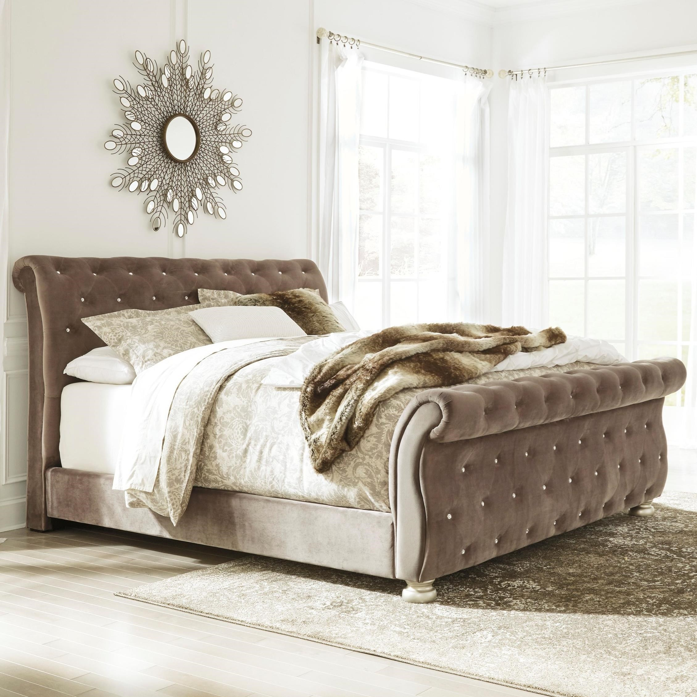 upholstered sleigh beds. Signature Design By Ashley CassimoreQueen Upholstered Sleigh Bed Upholstered Sleigh Beds L