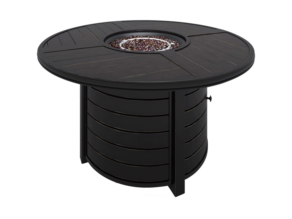 Signature Design by Ashley Castle IslandRound Fire Pit Table