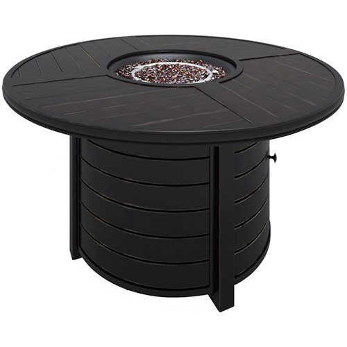 Signature Design by Ashley Castle Island Round Fire Pit Table