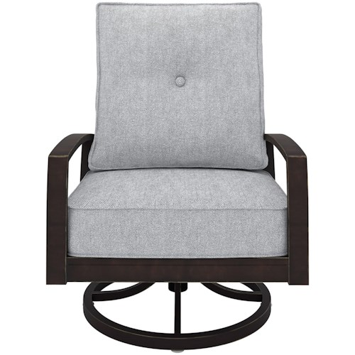 Signature Design by Ashley Castle Island Swivel Lounge Chair with Cushion