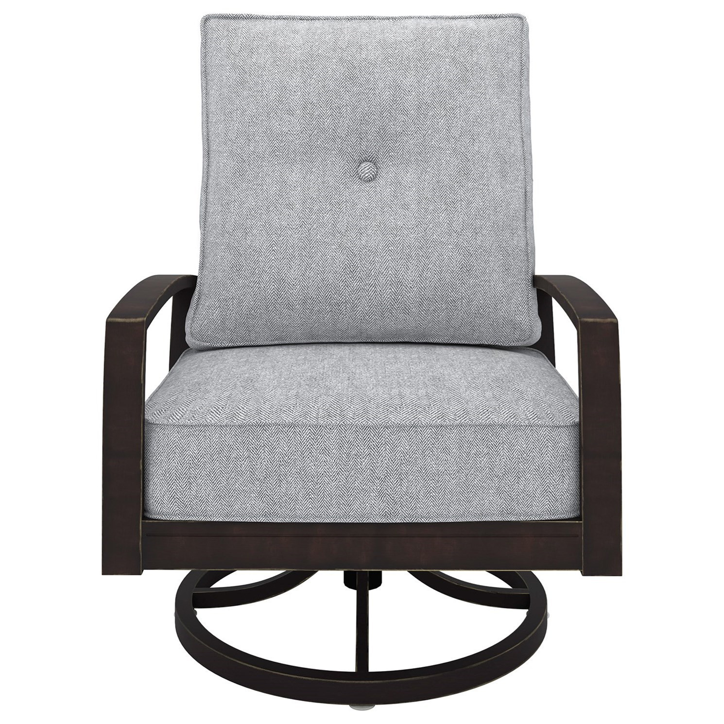 Signature Design By Ashley Castle IslandSwivel Lounge Chair ...