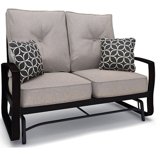 Signature Design by Ashley Castle Island Loveseat Glider with Cushion