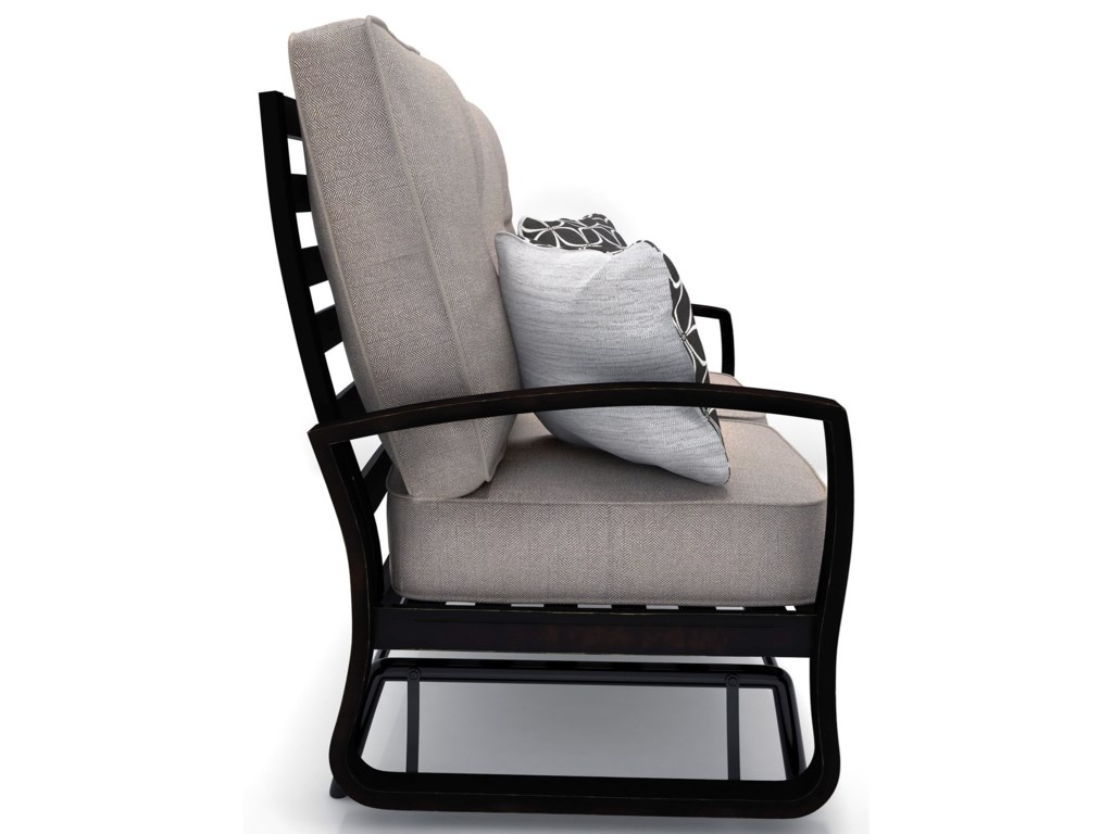Signature Design by Ashley Castle IslandLoveseat Glider w/ Cushion