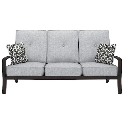 Signature Design by Ashley Castle Island Contemporary Sofa with Cushion