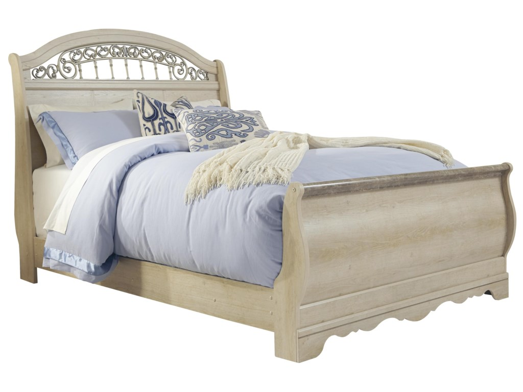 sleigh grey with helpchildren bed fabric footboard