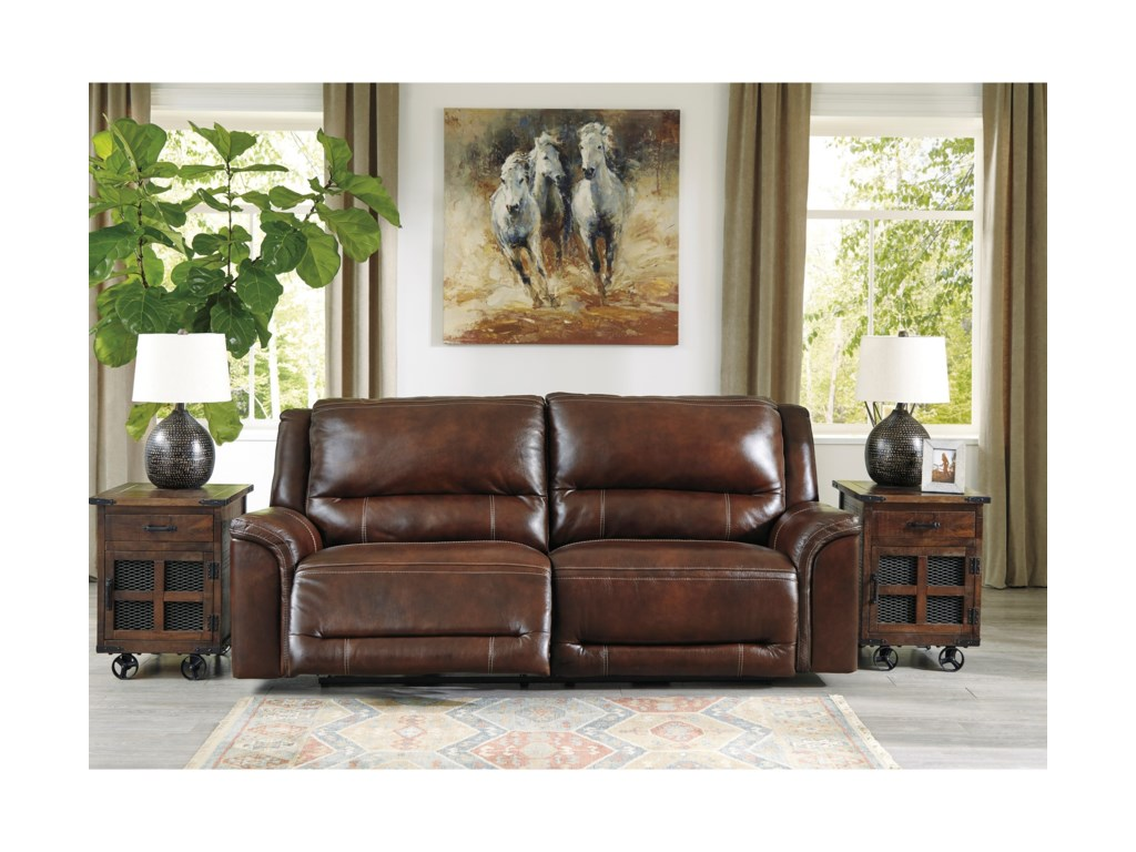 Signature Design by Ashley Catanzaro2 Seat Power Reclining Sofa