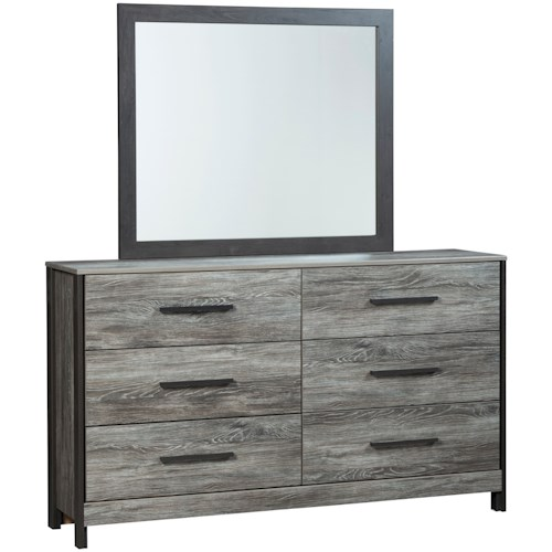 Signature Design by Ashley Cazenfeld Modern Rustic Dresser & Bedroom Mirror