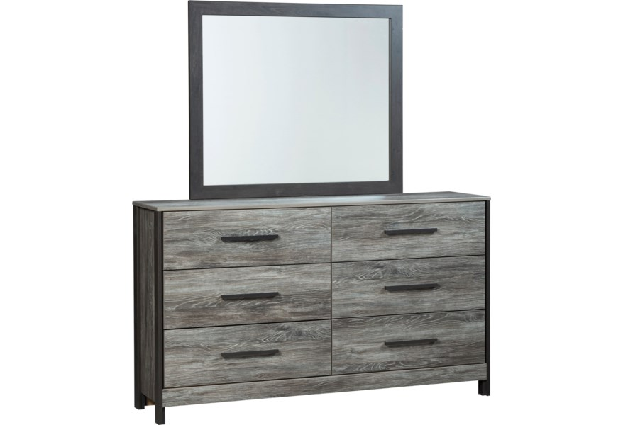 Cazenfeld Modern Rustic Dresser & Bedroom Mirror by Signature Design by  Ashley at VanDrie Home Furnishings
