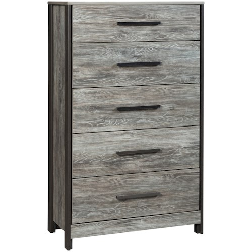 Signature Design by Ashley Cazenfeld Modern Rustic Five Drawer Chest