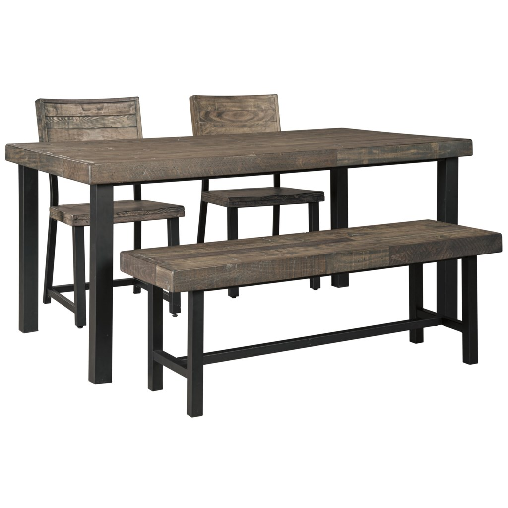 Signature design by ashley cazentine4 piece dining table set with bench
