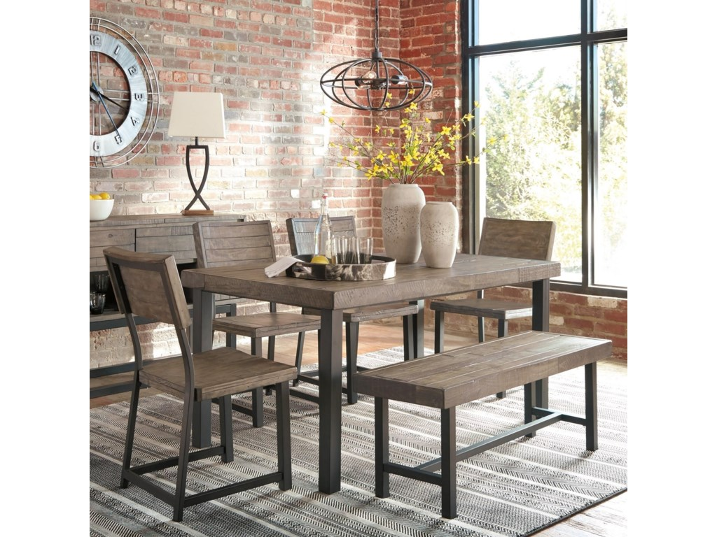 Signature Design by Ashley Cazentine6-Piece Table Set with Bench