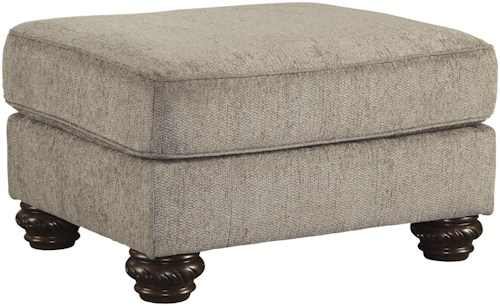 Signature Design by Ashley Cecilyn Traditional Ottoman with Bun Feet