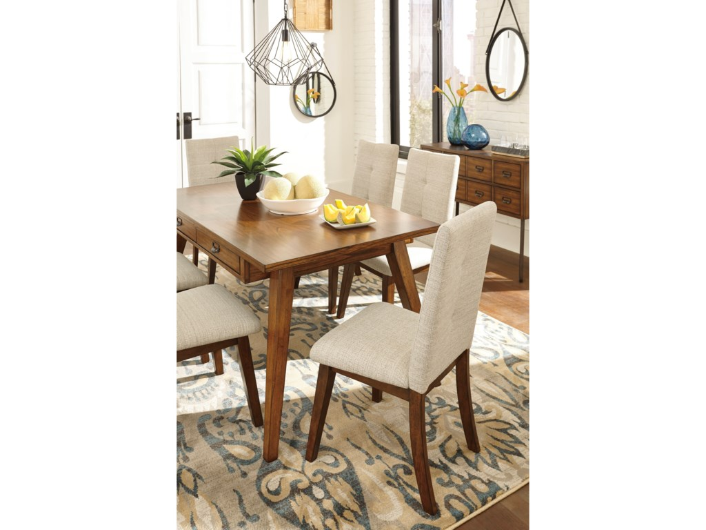 Centiar Dining Upholstered Side Chair With Stain Resistant Fabric By Signature Design Ashley At Household Furniture
