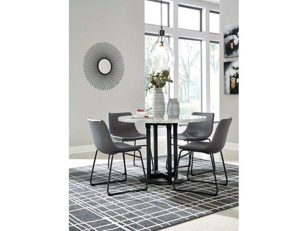 Signature Design by Ashley Centiar5-Piece Round Dining Table Set