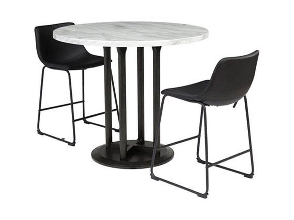 Signature Design by Ashley Centiar3-Piece Round Counter Table Set