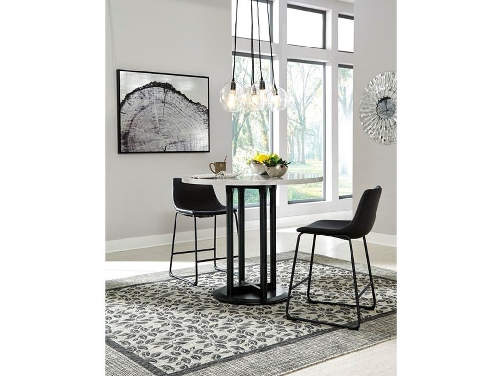 Signature Design by Ashley CentiarRound Dining Room Counter Table