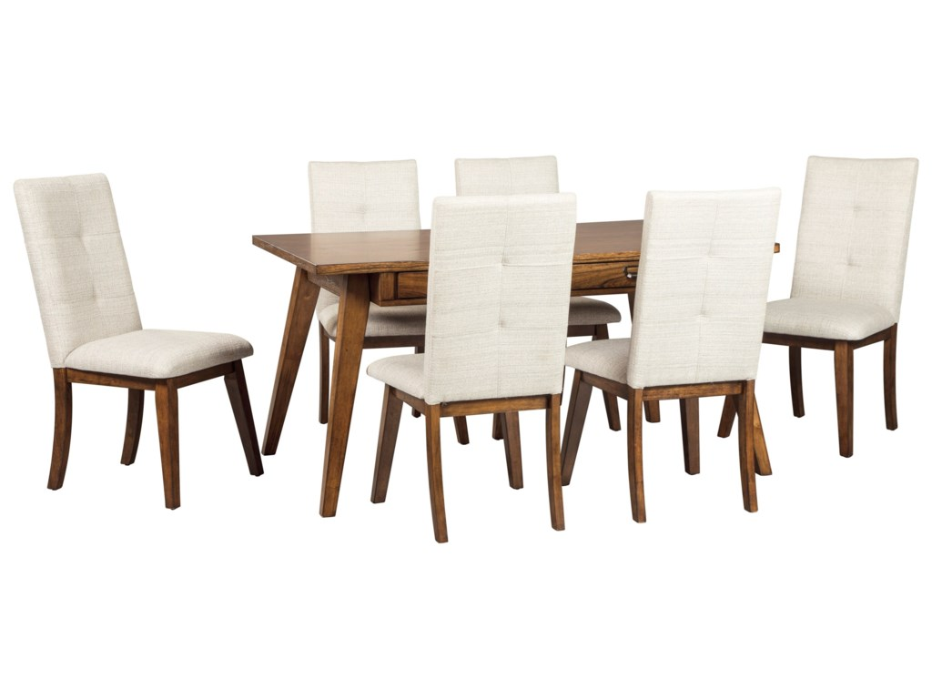 Signature Design by Ashley Centiar 7-Piece Rectangular Dining Room ...