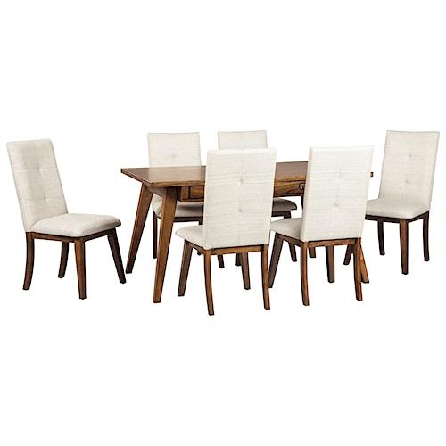 Signature Design by Ashley Centiar 7-Piece Rectangular Dining Room Set