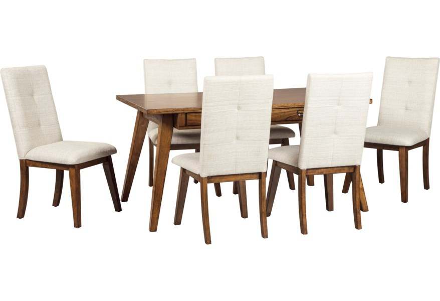 Centiar 7-Piece Rectangular Dining Room Set by Signature Design by Ashley  at Standard Furniture