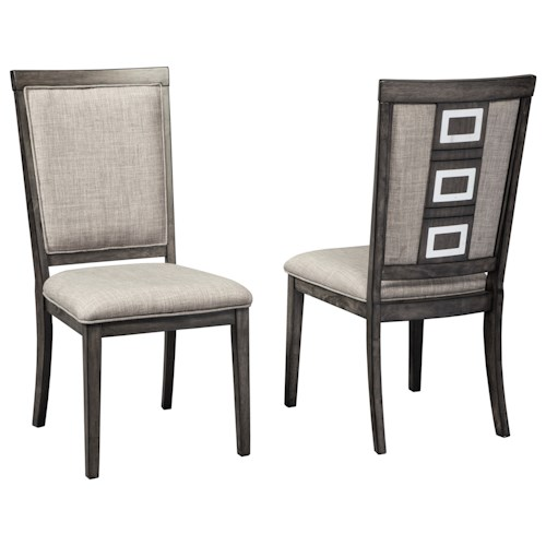 Signature Design by Ashley Channing Contemporary Upholstered Side Chair with Metal Accents