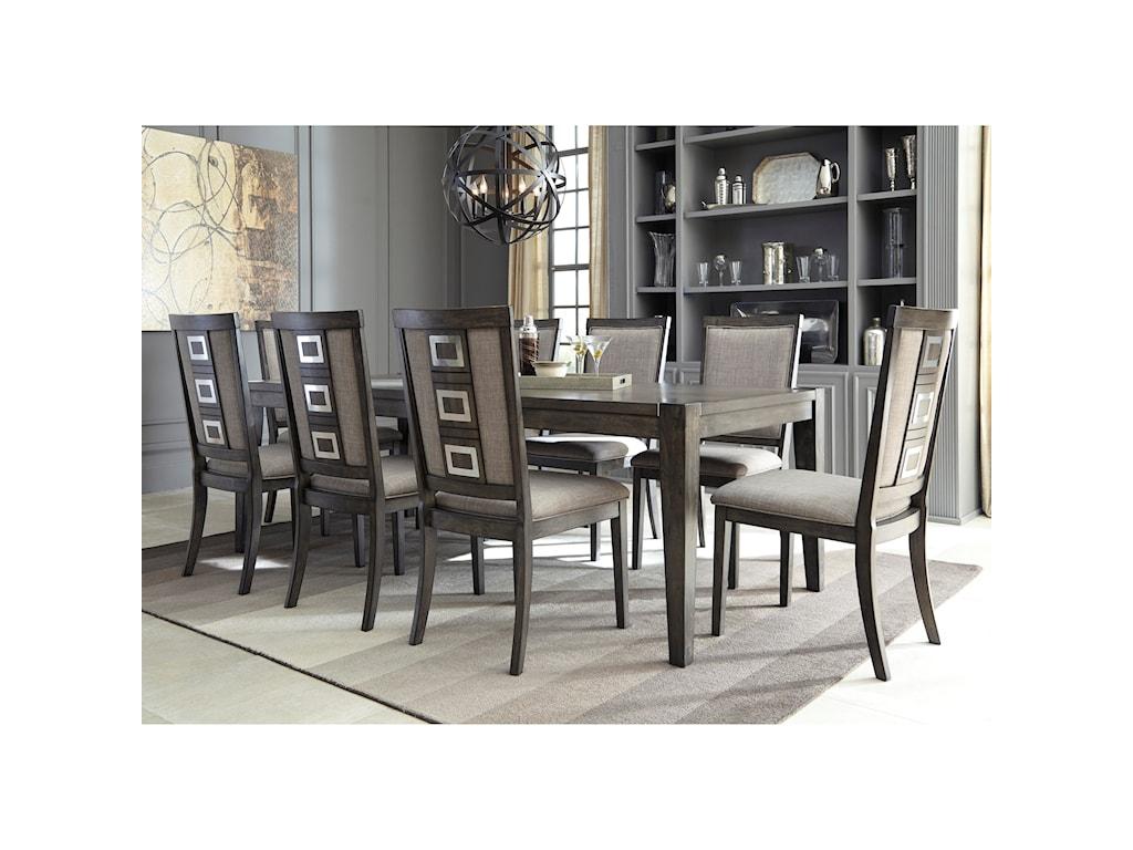 Signature Design by Ashley Chadoni9 Piece Contemporary Rectangular Table Set