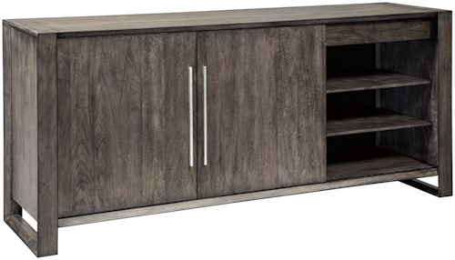 Signature Design by Ashley Channing Contemporary Dining Room Server with Adjustable Shelves and Drawers