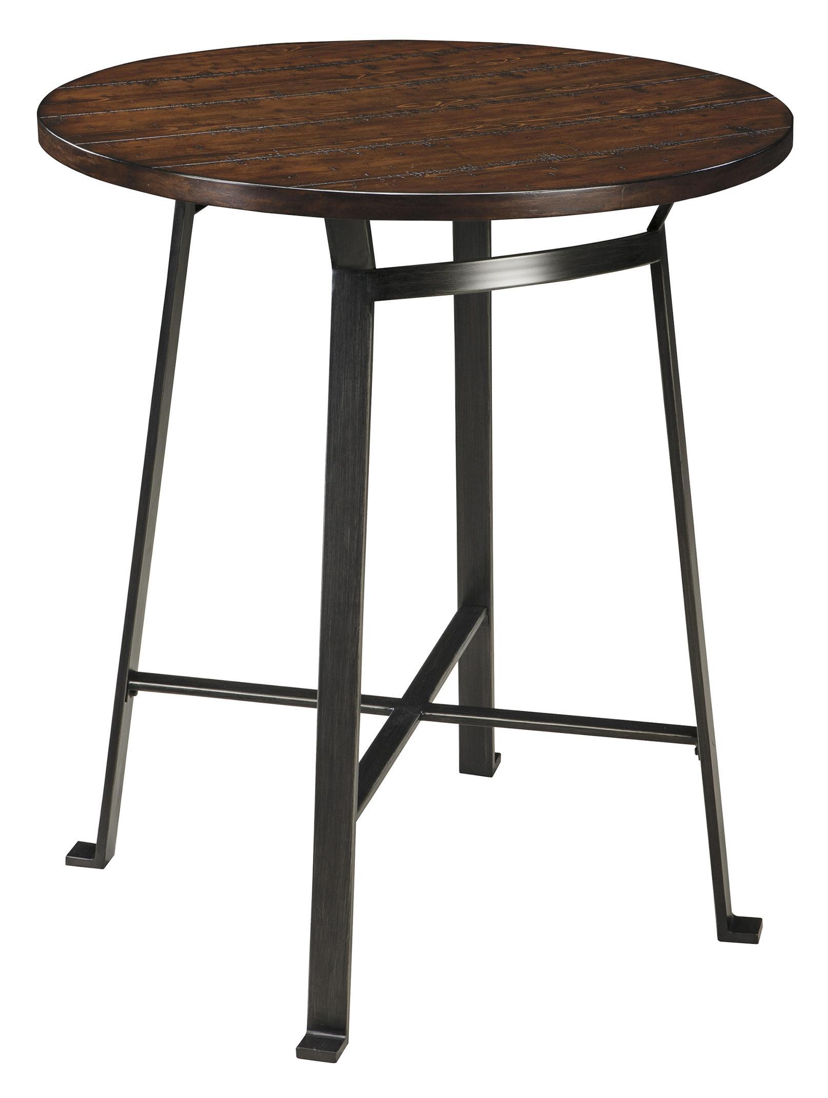 ... Signature Design By Ashley Challiman3 Piece Round Bar Table Set ...