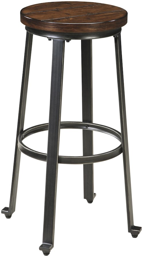 Signature Design By Ashley Challiman Industrial Style Armless Tall Stool Pilgrim Furniture