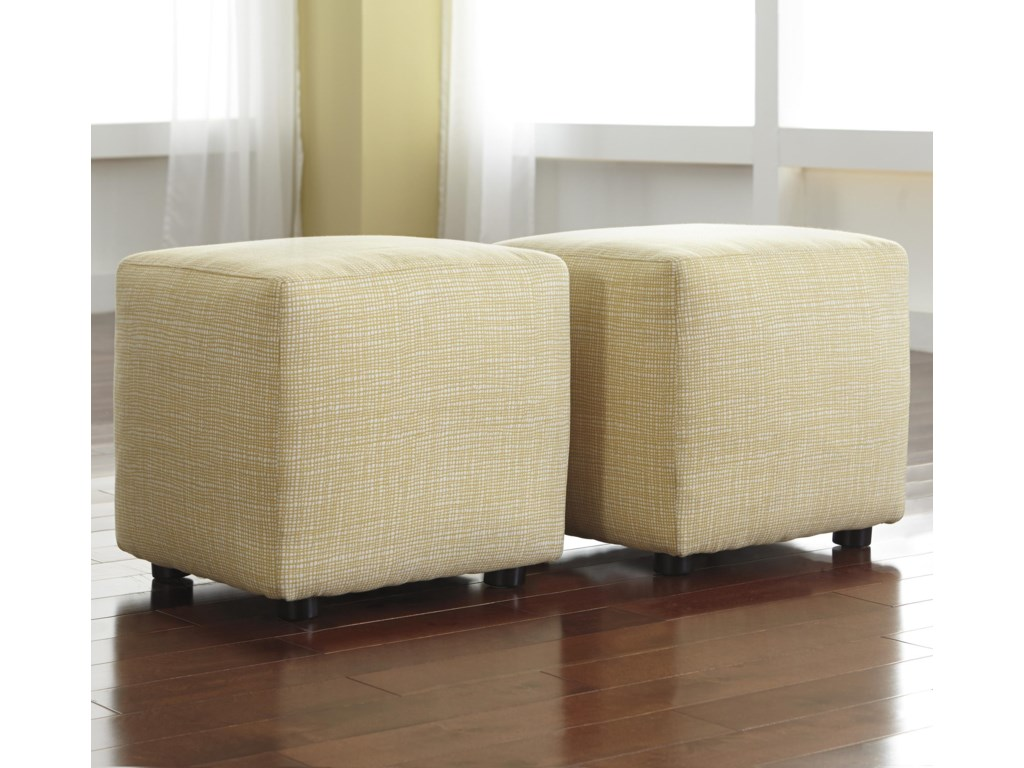 signature design by ashley chamberly  alloy set of  cube  - signature design by ashley chamberly  alloy set of  cube ottomans inbuttercup fabric  furniture and appliancemart  ottomans