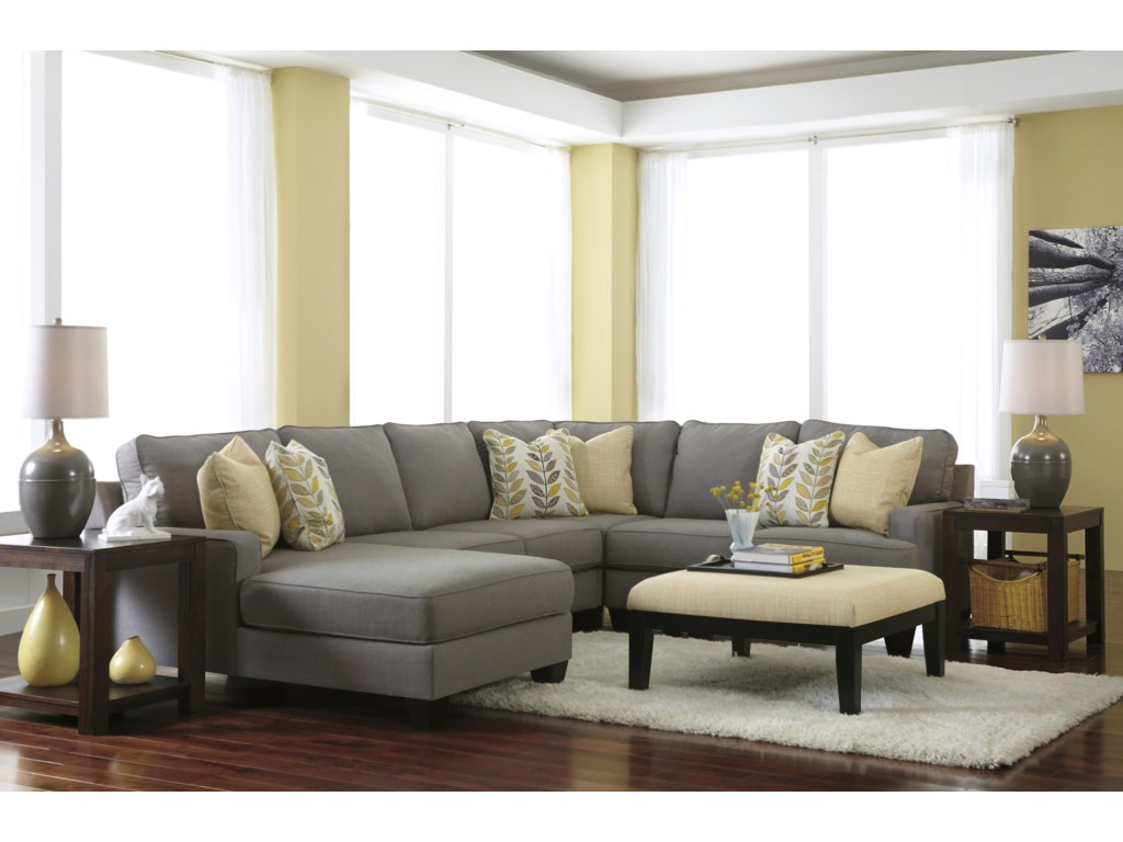Signature Design by Ashley Chamberly - Alloy4-Piece Sectional Sofa with Left Chaise