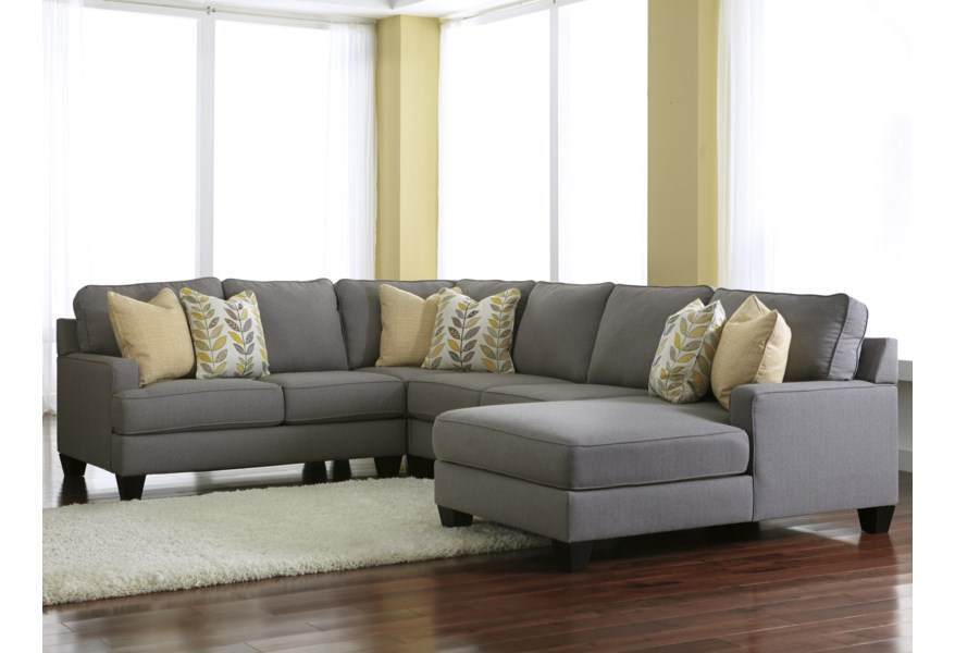 Chamberly - Alloy 4-Piece Sectional Sofa with Right Chaise