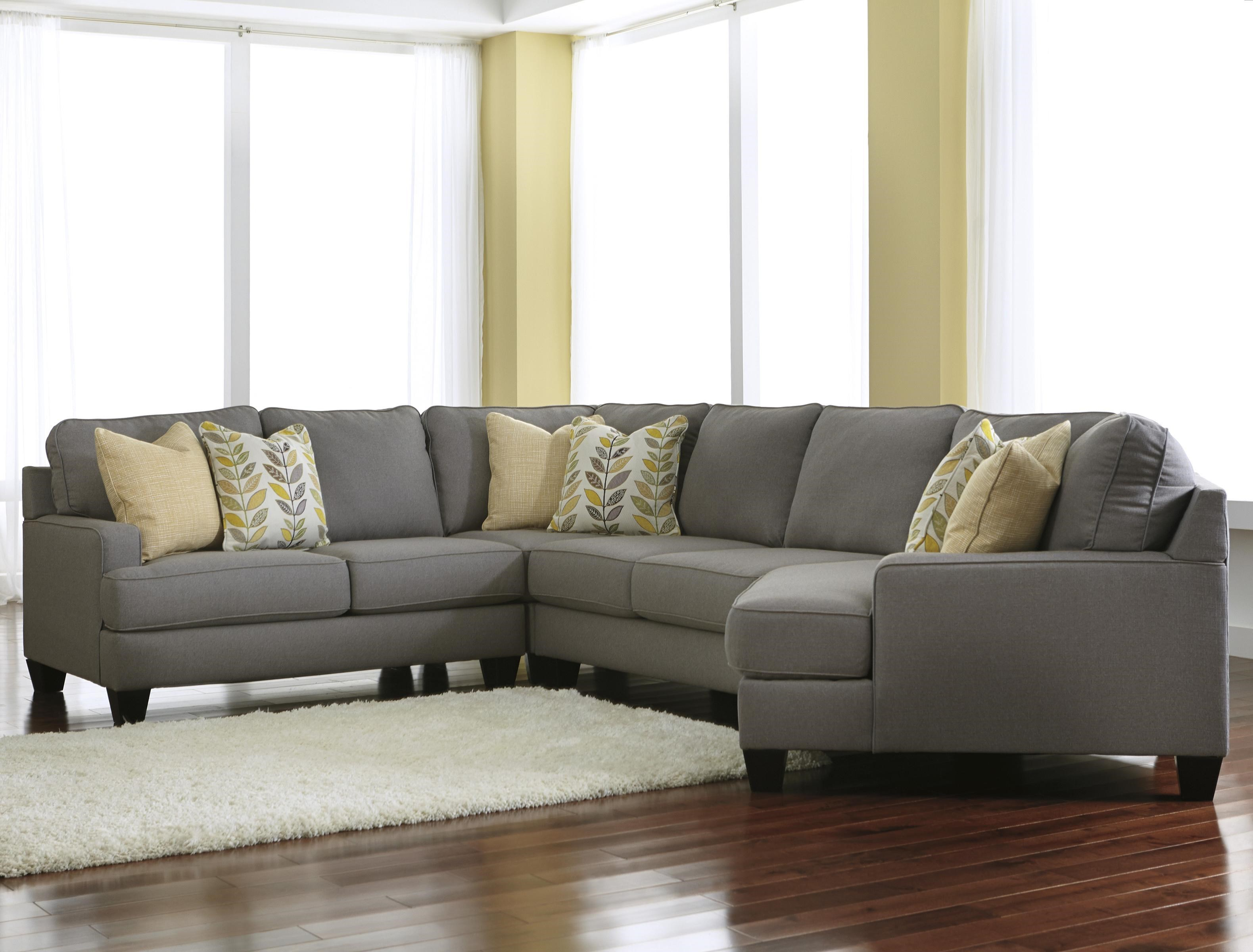 Merveilleux Signature Design By Ashley Chamberly   Alloy4 Piece Sectional Sofa With  Right Cuddler ...