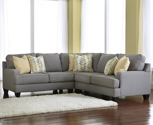 Signature Design by Ashley Chamberly - Alloy Modern 3-Piece Corner  Sectional Sofa with Reversible