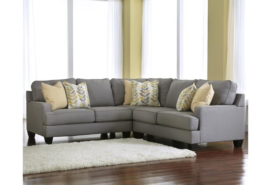Chamberly - Alloy 3-Piece Corner Sectional Sofa