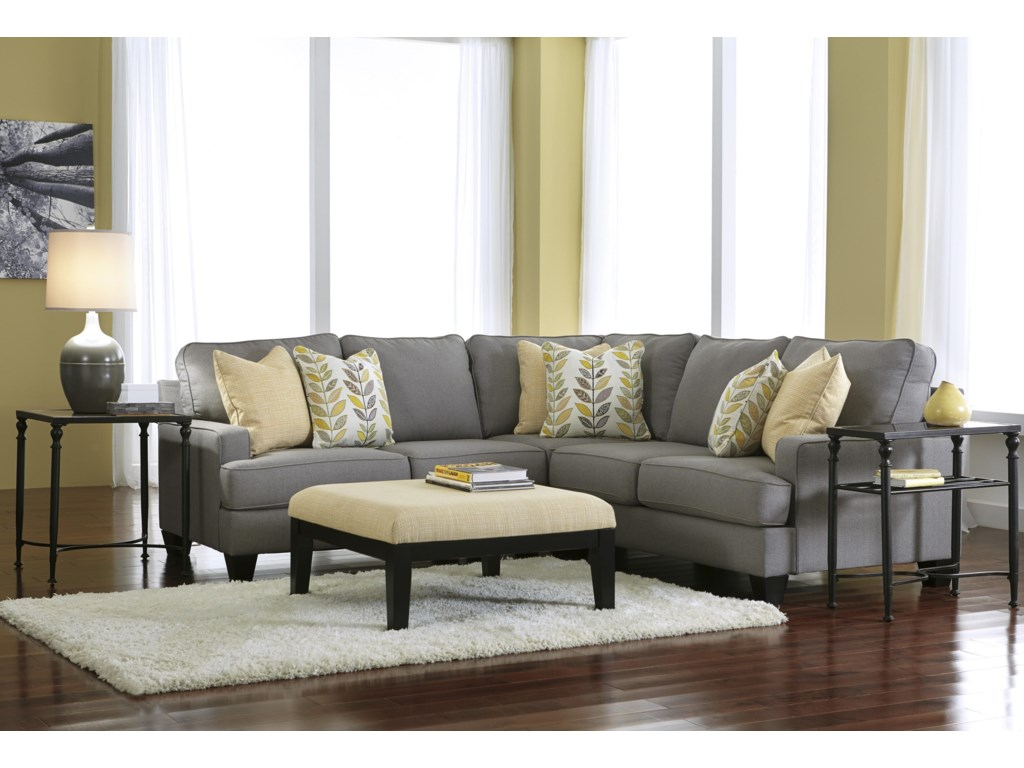 Ashley (Signature Design) Chamberly - Alloy3-Piece Corner Sectional Sofa