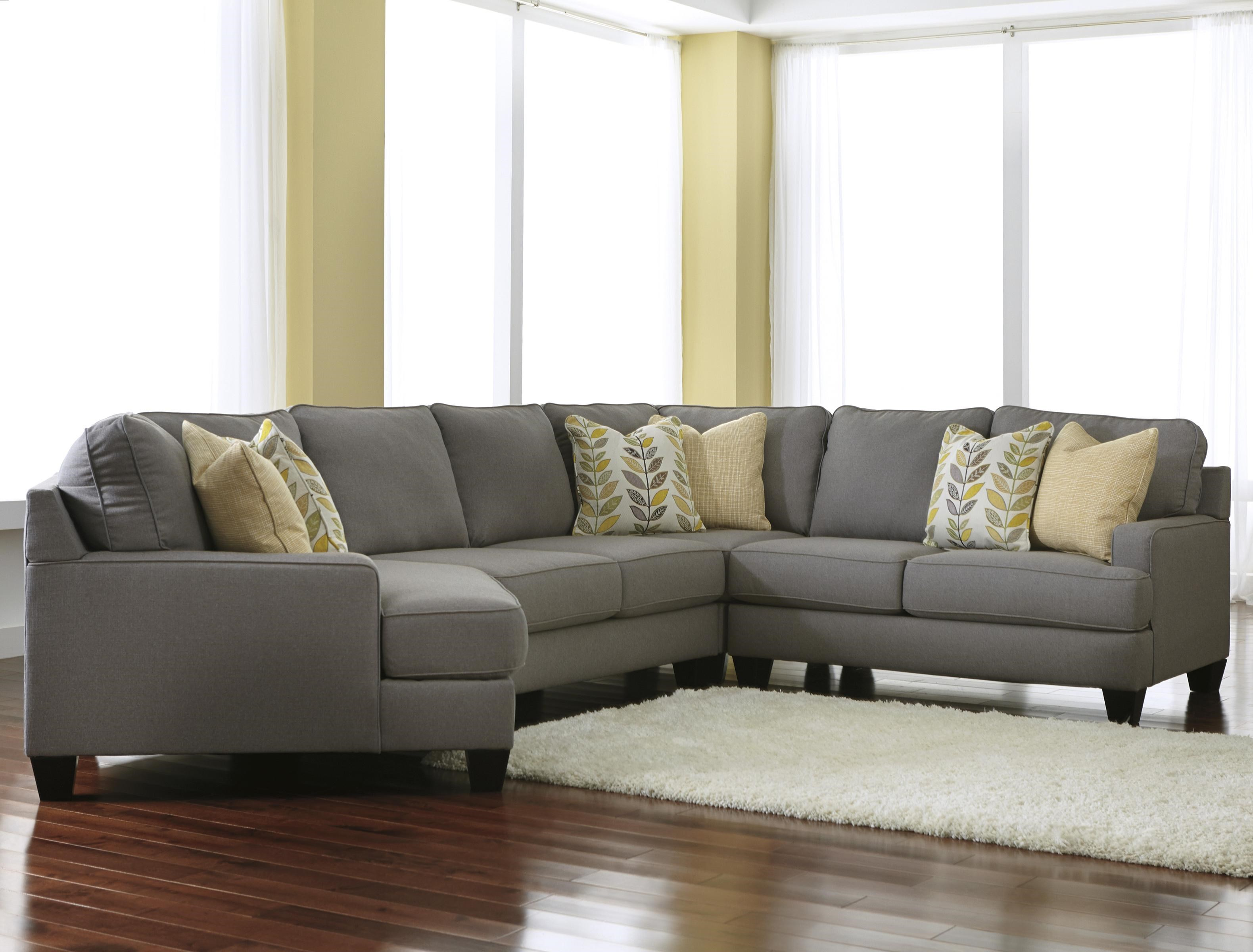 Signature Design by Ashley Chamberly - Alloy Modern 4-Piece Sectional Sofa with Left Cuddler  sc 1 st  Value City Furniture : sectional couch with cuddler - Sectionals, Sofas & Couches