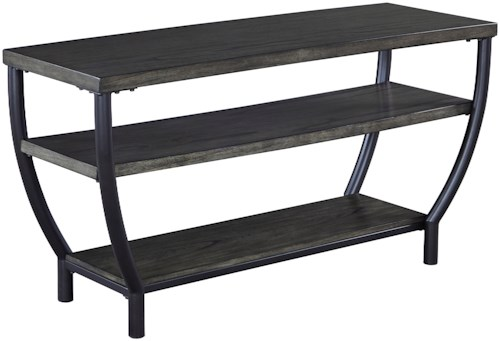 Signature Design by Ashley Champori Contemporary Metal/Wood TV Stand